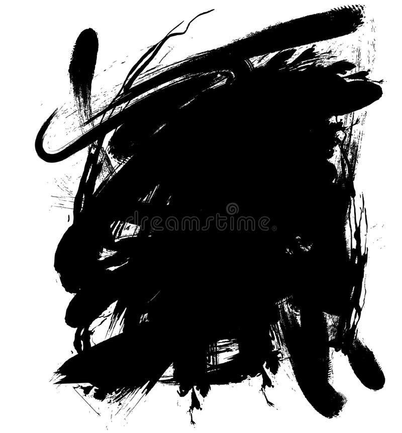 Goutte à l'encre noire illustration libre de droits