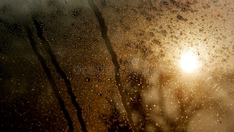 Goutte de l'eau sur le verre photo libre de droits