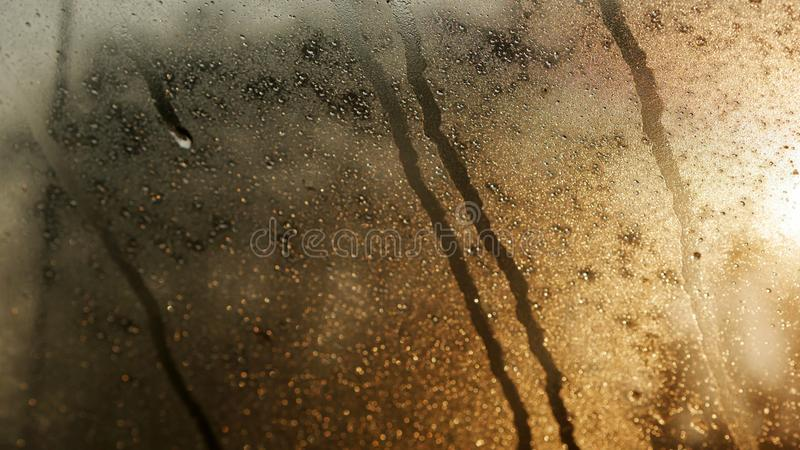 Goutte de l'eau sur le verre images libres de droits