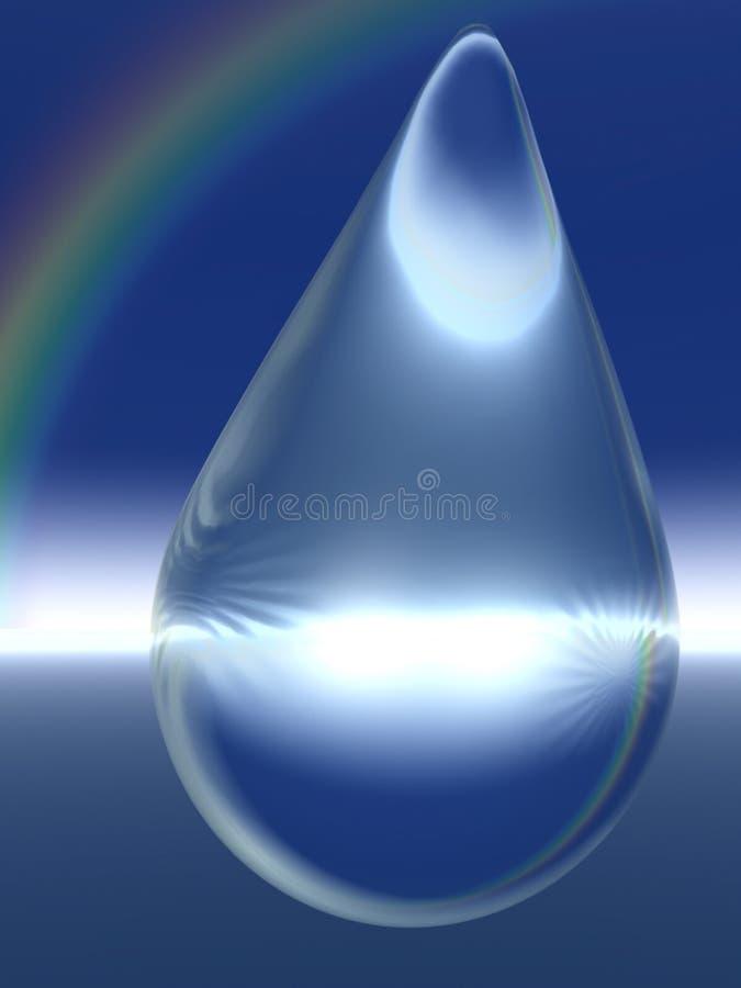Goutte de pluie et arc-en-ciel en cristal illustration libre de droits