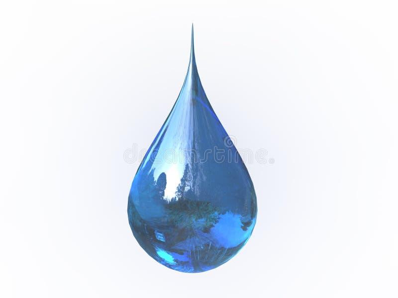 Gouttelette bleue d'isolement illustration de vecteur
