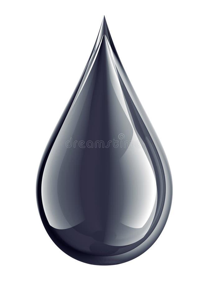 Gouttelette de pétrole illustration de vecteur