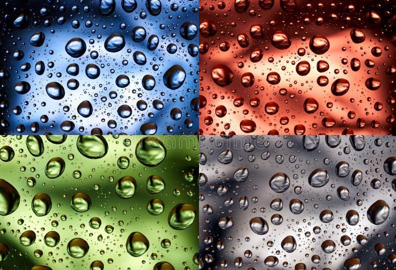 Gouttelettes d'eau de couleur photos stock