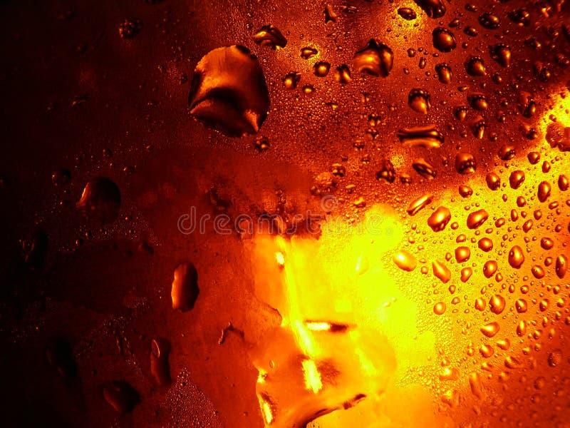 Gouttelettes de bière image libre de droits
