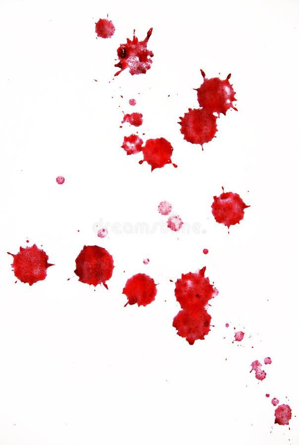 Gouttelettes de sang image libre de droits