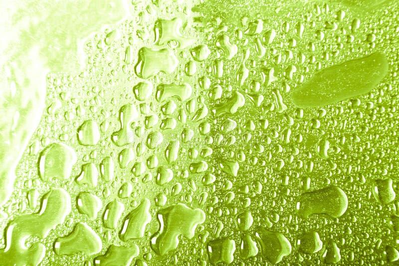 Gouttes de l'eau sur un fond de couleur gris Profondeur de zone Foyer sélectif blur image libre de droits