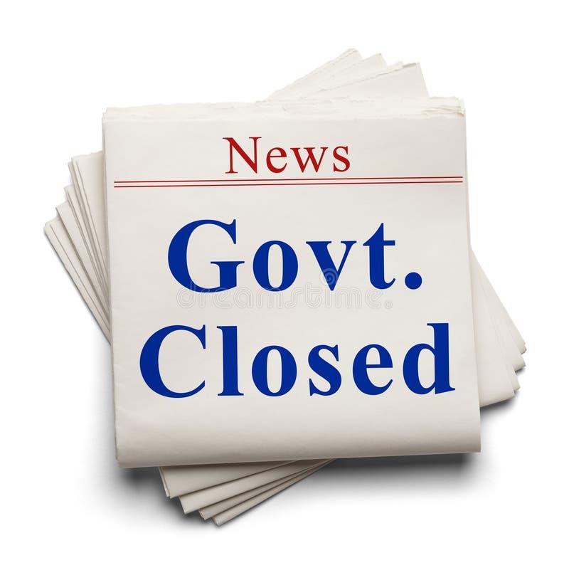 Gouvernement de nouvelles fermé photos libres de droits
