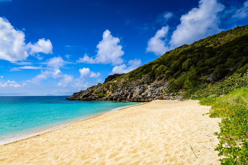 Gouverneur Beach - St. Barths royalty free stock photo