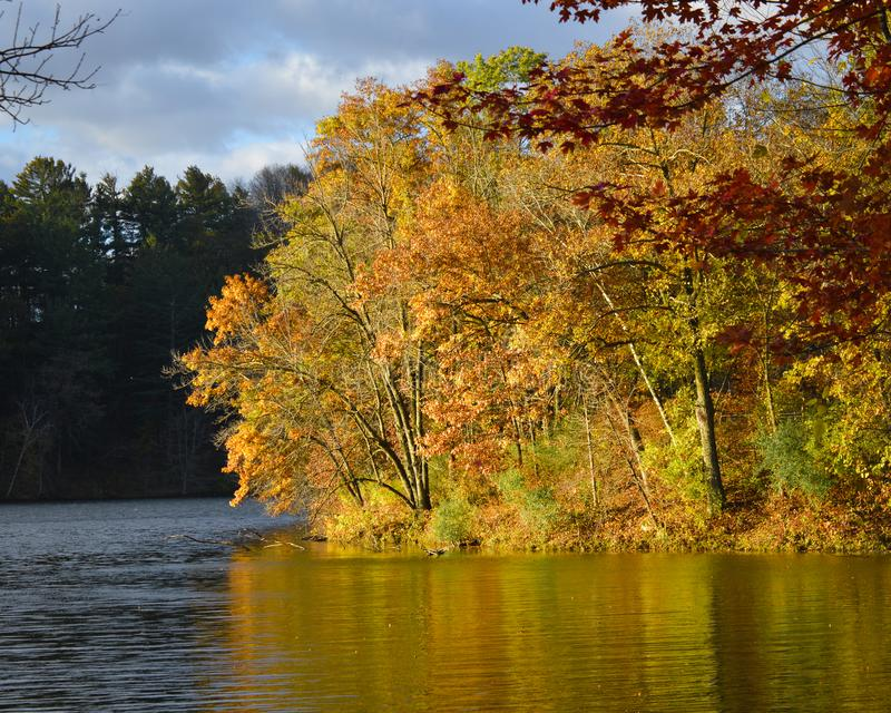 Gouverneur Dodge State Park in Daling stock afbeelding