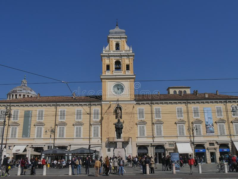 Gouverneur Palace in Parma royalty-vrije stock afbeelding