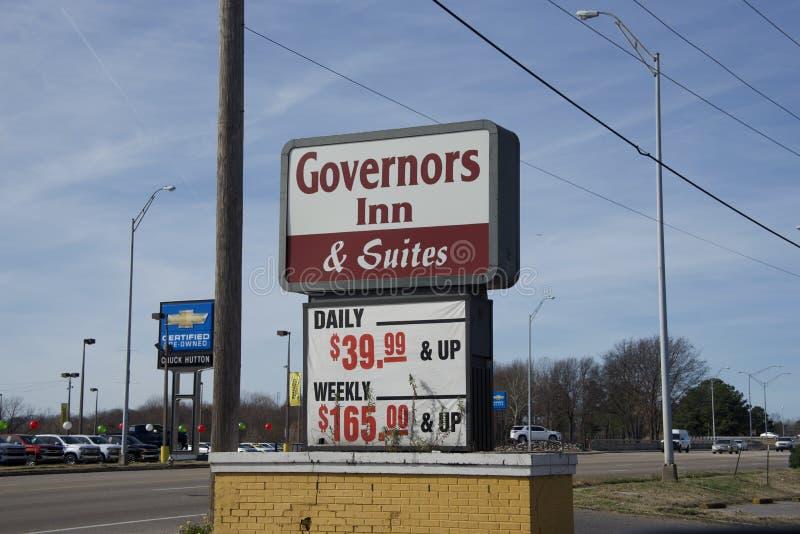 Gouverneure Gasthaus und Reihen, Memphis, TN stockfoto