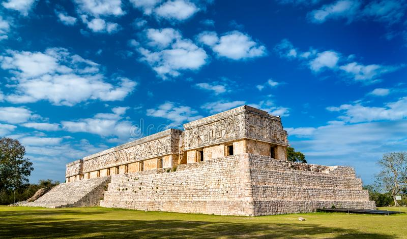 Gouverneurs` s paleis in Uxmal in Mexico stock afbeelding