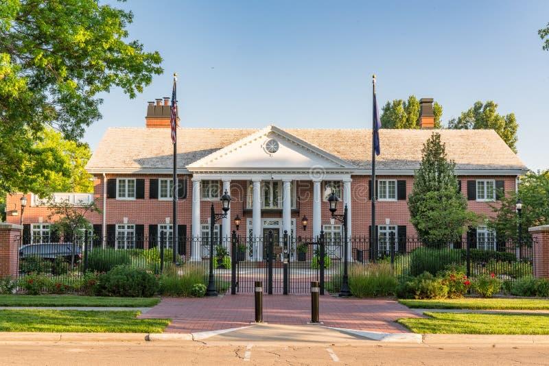 Gouverneursherenhuis in Lincoln, Nebraska stock fotografie