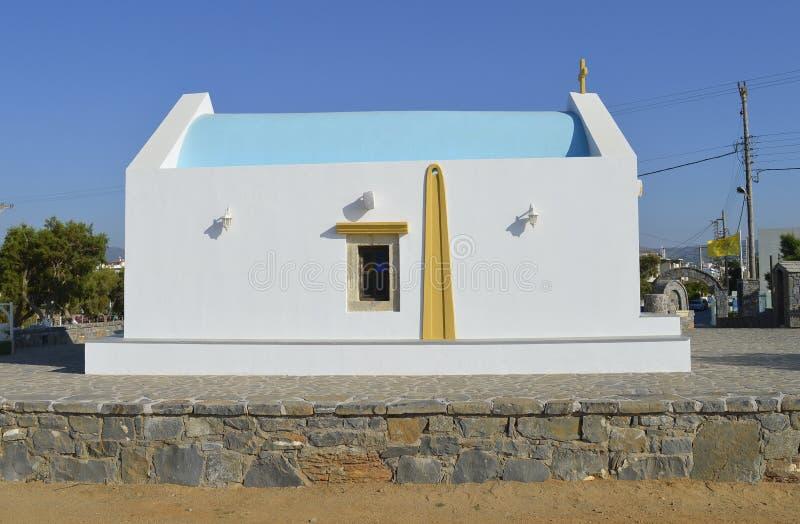 Gouves Chiesa dei santi costantina ed helen a Creta immagini stock libere da diritti