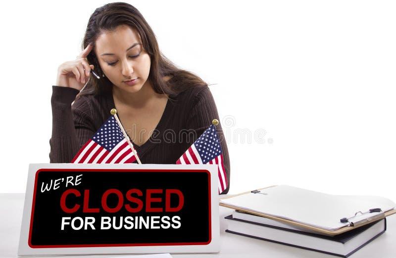 Download Goverment Shutdown stock image. Image of hours, flag - 34618243