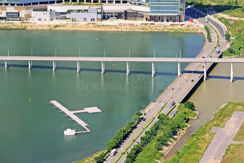 Governador Nobre de Carvalho Bridge, Macau, China royalty free stock images