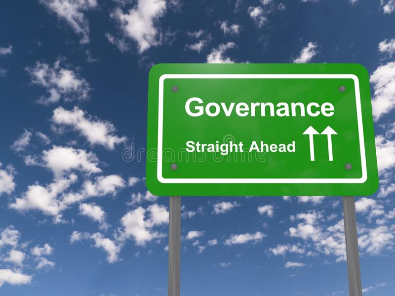 Governance ahead sign royalty free stock photo