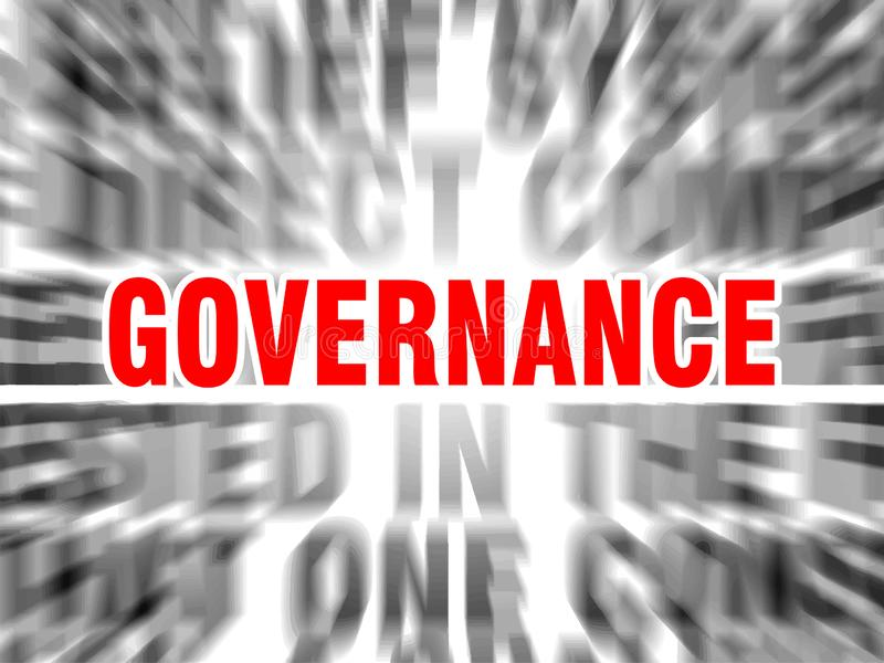 Governance. Blurred text with focus on royalty free illustration