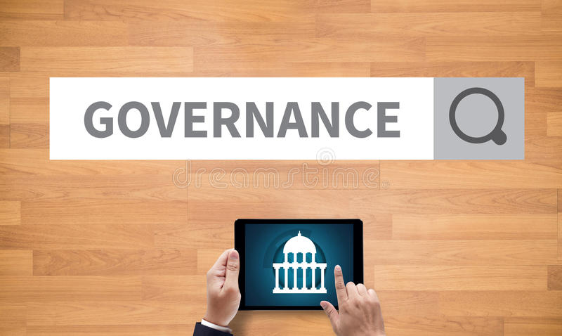 GOVERNANCE and Government building, Authority Government royalty free stock image