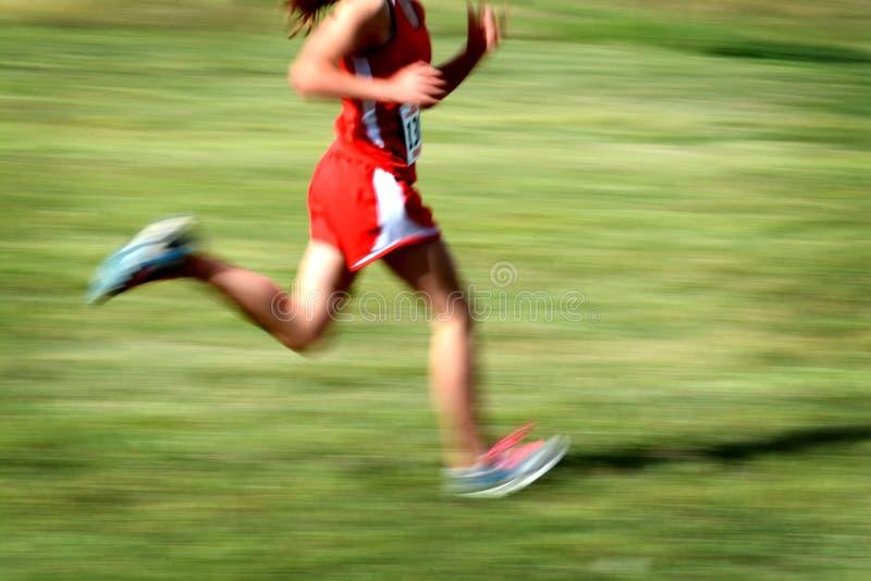 Governare la concorrenza della sfuocatura di velocità della gara di corsa campestre fotografie stock