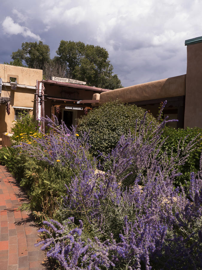 Governatore Bents House Museum in Taos New Mexico fotografia stock