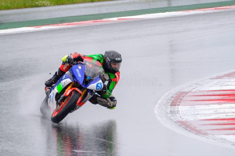 Governatore di regione di Mosca della tazza della corsa del motociclo immagini stock