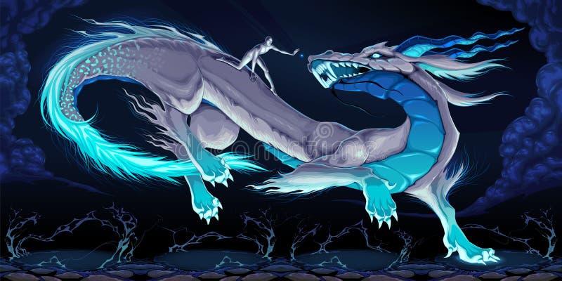 Governe seu dragão ilustração royalty free