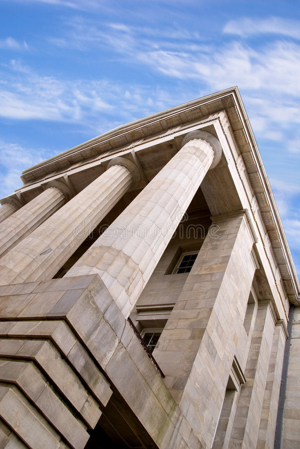 Government Building. A generic architecture style used for government buildings stock photography