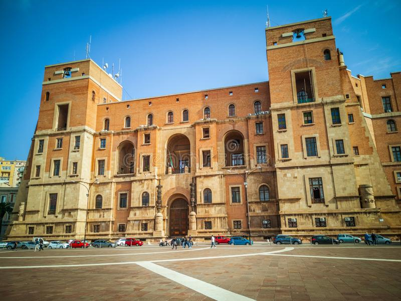 The Government building seat of the Prefecture in Taranto Italy. TARANTO, ITALY. October 21, 2017: The Government building, located in Taranto, is the seat of stock photo