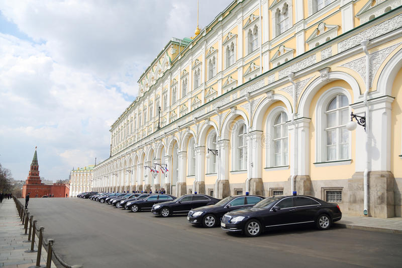 Government Cars Are Near Grand Kremlin Palace Editorial Photo