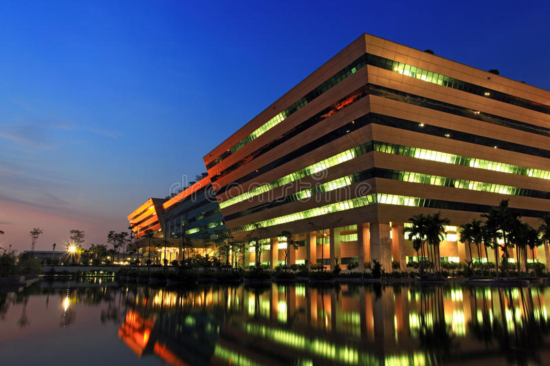 Download Government Complex At Dusk In Bangkok Thailand Editorial Stock Image - Image: 17681564