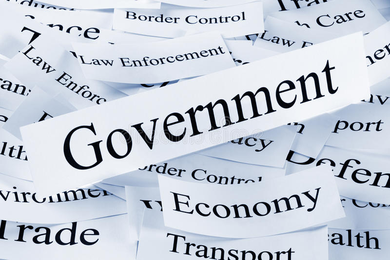 Government and Economy Concept stock photos