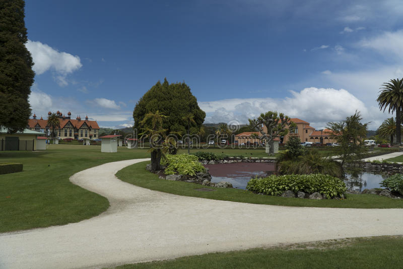 Government Gardens. Rotorua, New Zealand stock photo