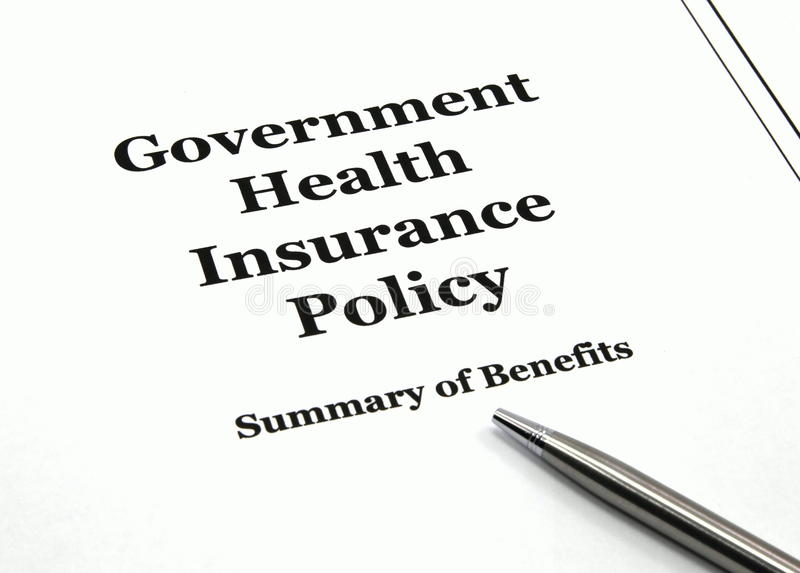 Download Government Health Insurance Policy And Pen Stock Image - Image: 13825349