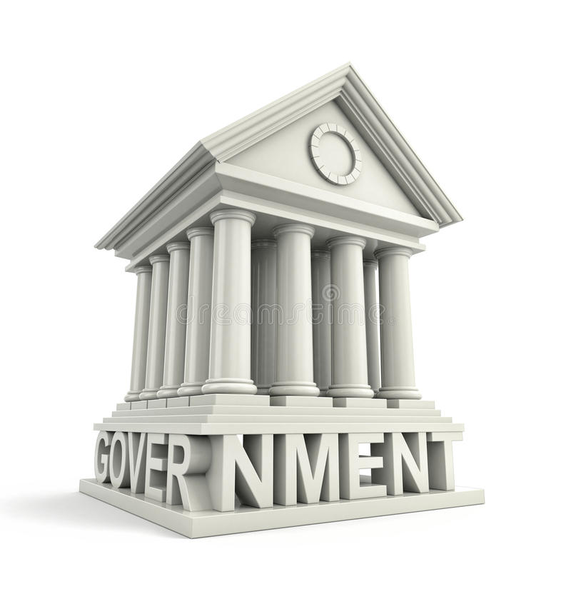 Free Government Icon. Government 3d Building Icon Stock Photo - 77381460
