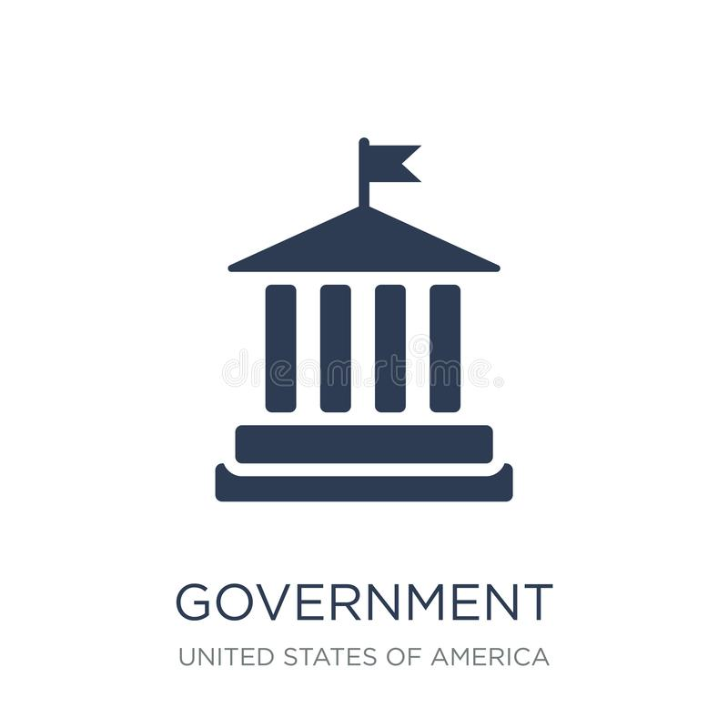 Government icon. Trendy flat vector Government icon on white background from United States of America collection. Vector illustration can be use for web and vector illustration