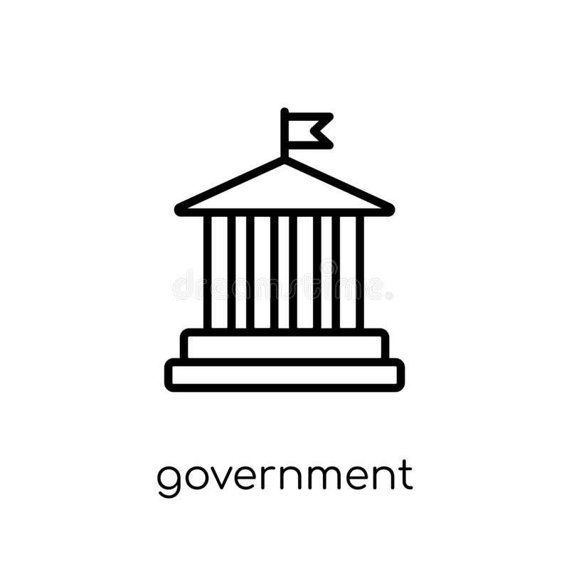 Government icon. Trendy modern flat linear vector Government icon on white background from thin line United States of America col. Lection, editable outline vector illustration