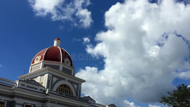 Government Palace dome in Cienfuegos royalty free stock images