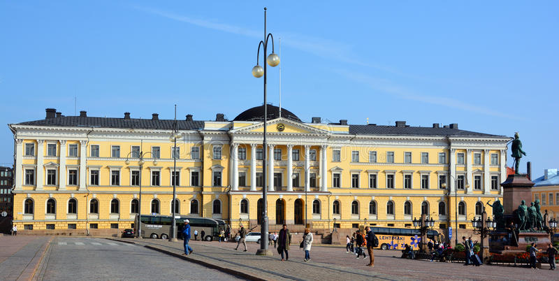 Government Palace in Helsinki royalty free stock photo