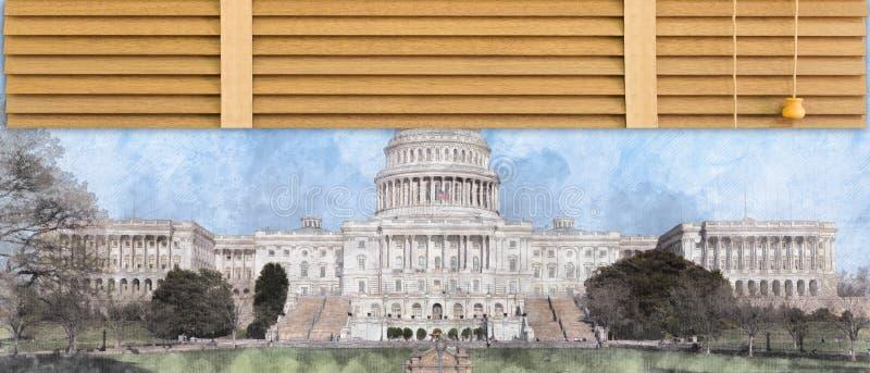 Government shuts down stock photo