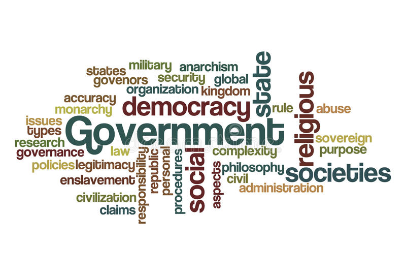 Government - Word Cloud royalty free stock image
