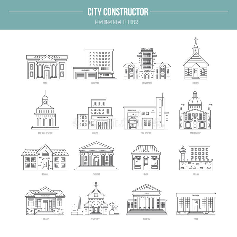 Governmental Buildungs royalty free illustration