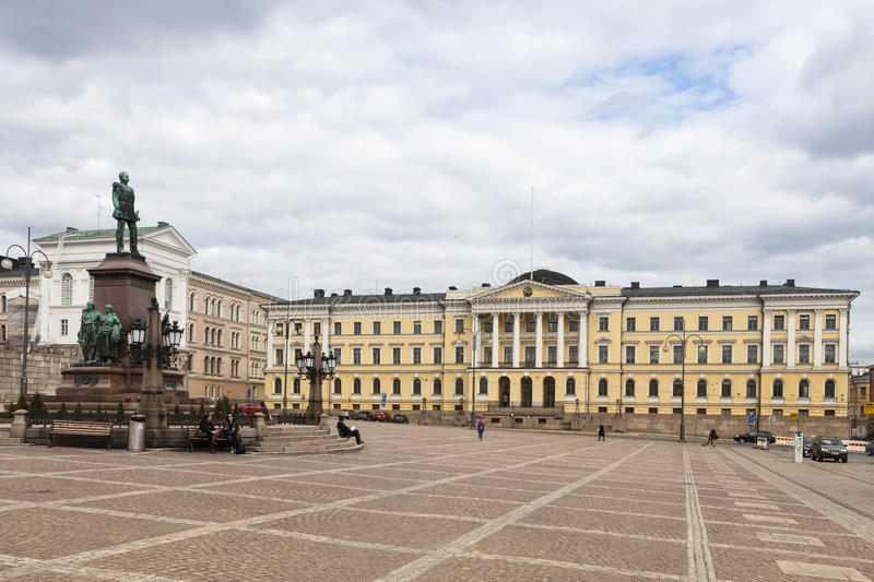Governmet Palace in Helsinki royalty free stock image