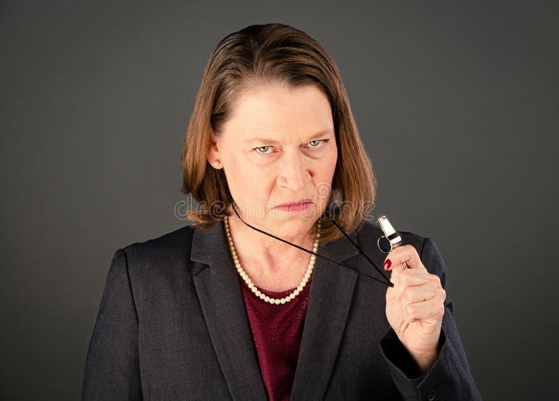 Governo feminino ou informante corporativo foto de stock royalty free