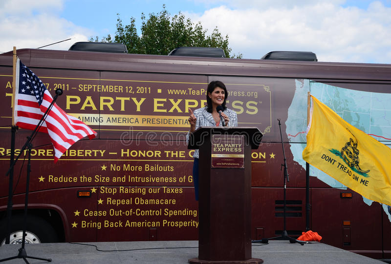 Download Governor Haley At Tea Party Express Rally Editorial Photo - Image: 21093451