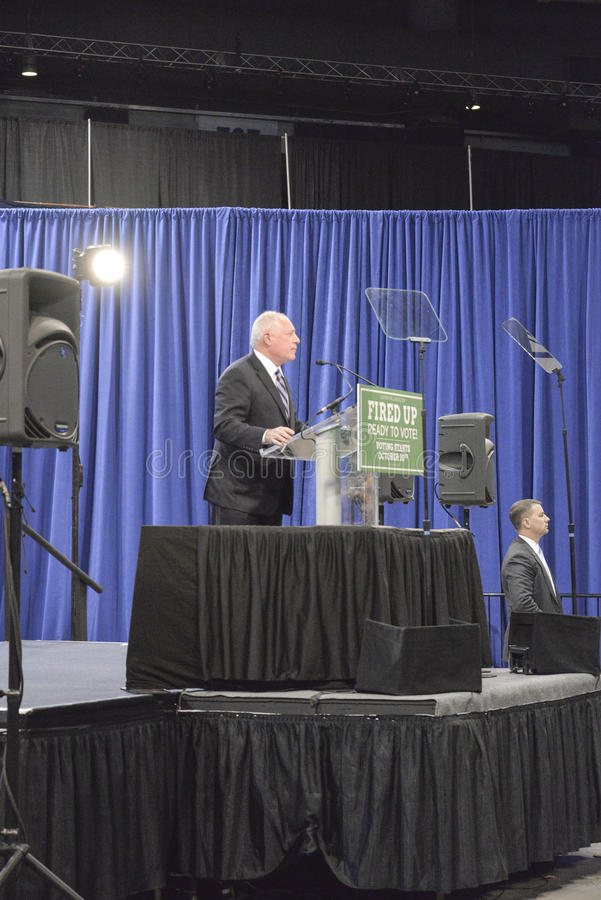 """Governor of Illinois, Pat Quinn. CHICAGO, ILLINOIS/ USA - 7th TUESDAY OCTOBER 2014 : Governor of Illinois, Pat Quinn told the crowd that """"Illinois is Obama royalty free stock images"""