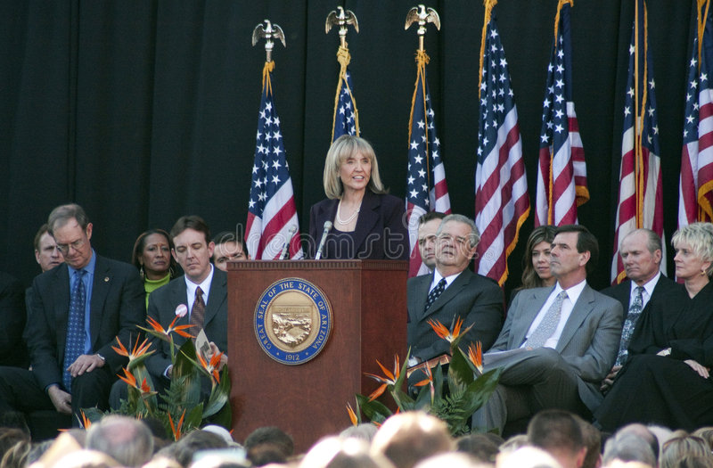 Governor Jan Brewer of Arizona stock photos