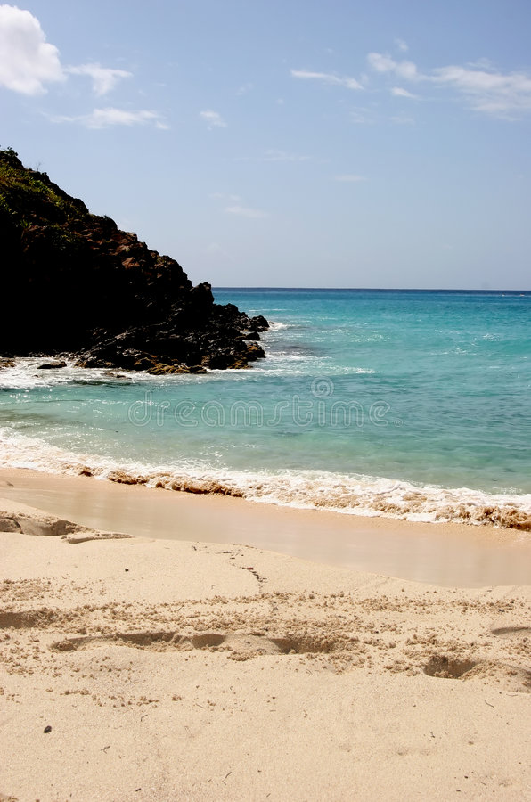 Governor's bay, St. Barth, Caribbean royalty free stock photography