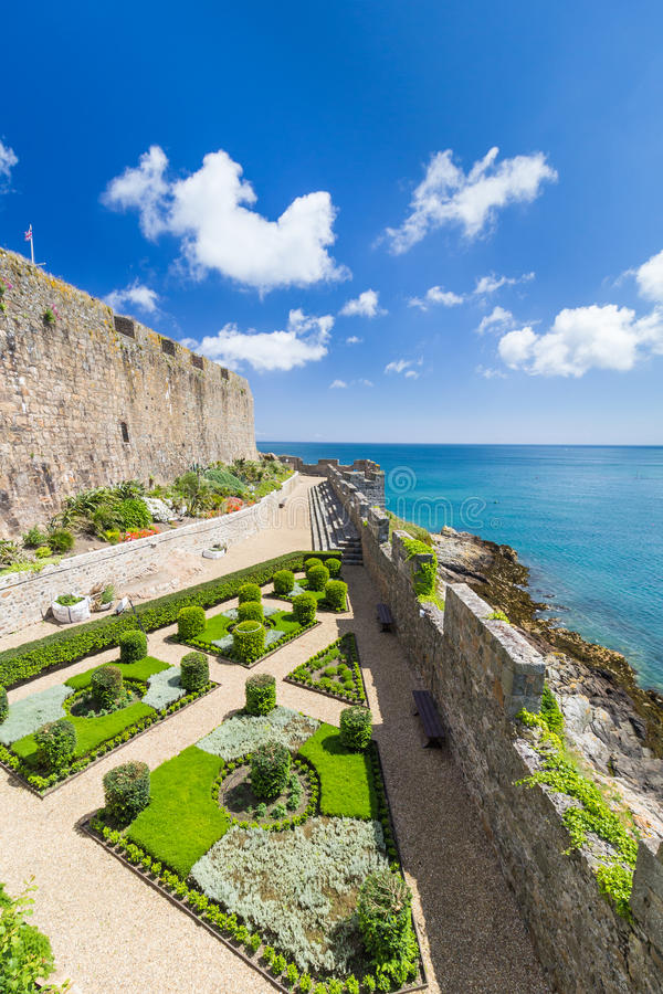Governor's Garden, Castle Cornet royalty free stock photos