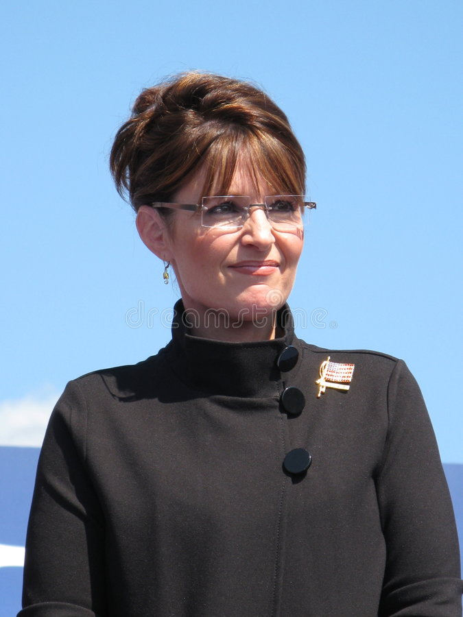 Governor Sarah Palin. At the rally in Fairfax, Virginia stock photography